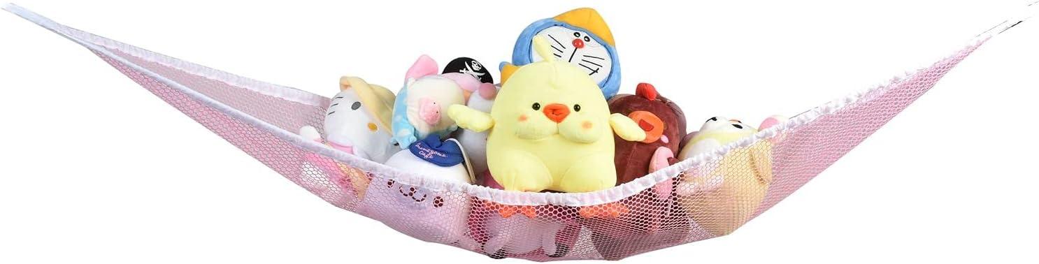 Pink Toy Hammock Kansas City Mall Storage Animal Plush Award-winning store Organ Stuffed