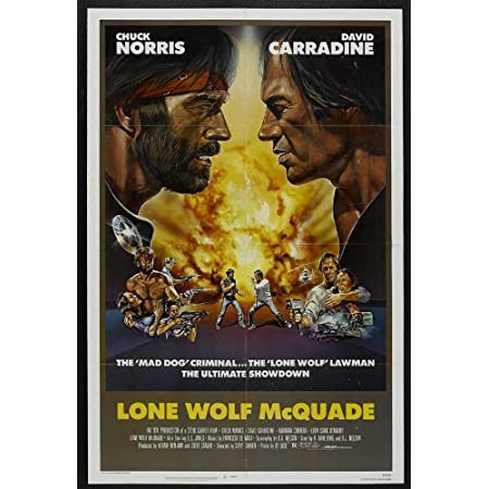 Lone Wolf McQuade Movie Poster Print Action 1983 1 Sheet Artwork