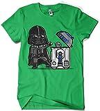 Camisetas La Colmena 209 - Robotictrashcan (Donnie) (M, Verde Irlandes)