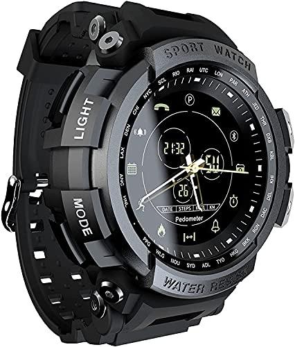 Reloj inteligente deportivo, rastreador de actividad física, recordatorio reloj digital reloj inteligente para hombres y mujeres (negro)