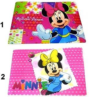 les colis noirs lcn Set de Table Minnie Disney 3D Dessous Bureau Enfant Fille - Mod2 Noeud Jaune - 272