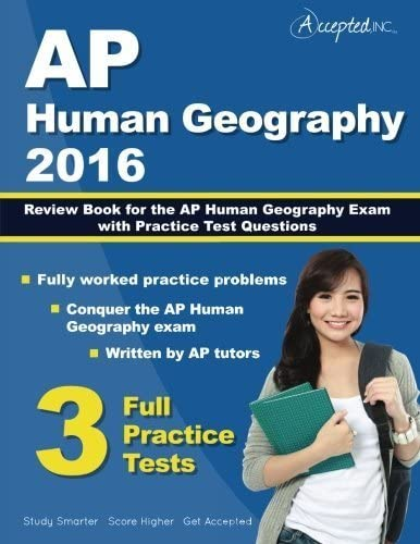 AP Human Geography 2016 Study Guide Review Book for AP Human Geography Exam with Practice Test product image