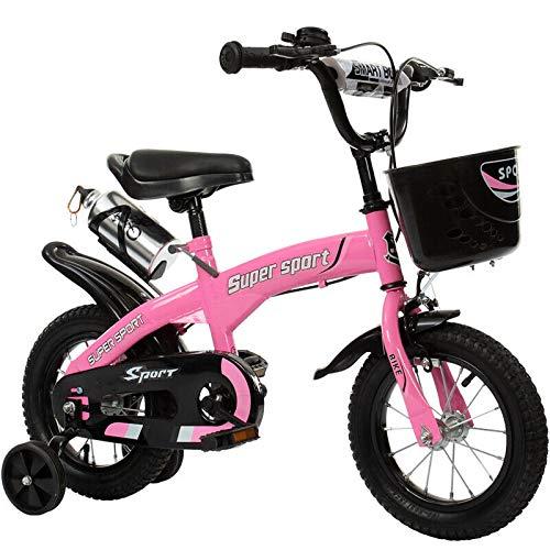 MPM 14 Zoll Kinderfahrrad mit Stützräder Kinderrad Fahrrad Spielrad in 3 versch. Farben (pink)
