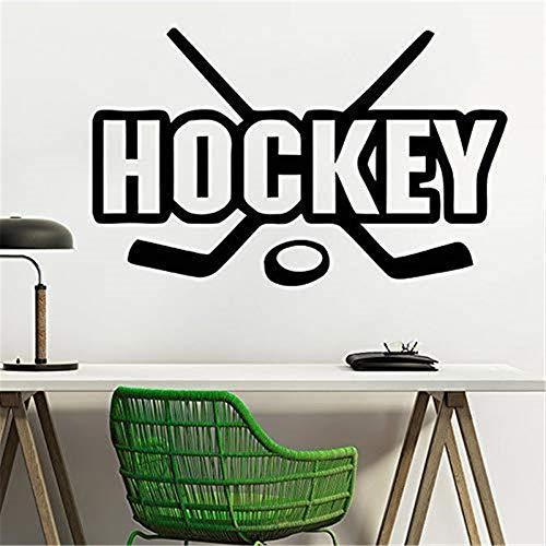 Wandtattoo Wohnzimmer Eishockey Hockey Spieler Sport Gym Wall Decor Boy Zimmer Aufkleber Wall Art Poster