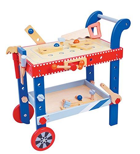 Lelin Toys - 31805 - Jeu D'Imitation - Outil Et Établi - Etabli À Roulette