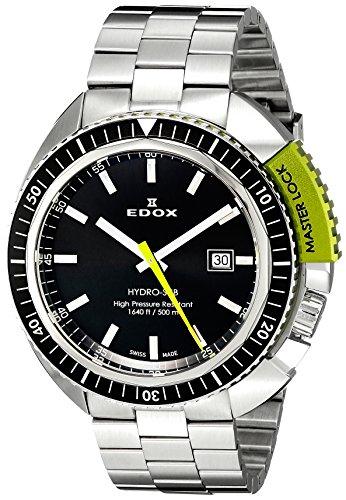 EDOX 53200 3NVM NIN - Orologio da polso da uomo, cinturino in acciaio inox