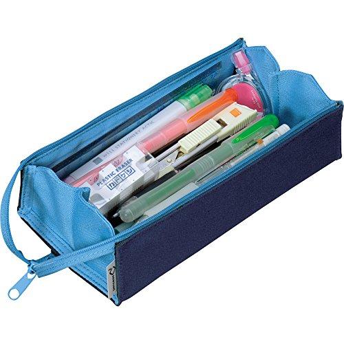 コクヨペンケース筆箱ペン立てC2ネイビー×ブルーF-VBF122-1