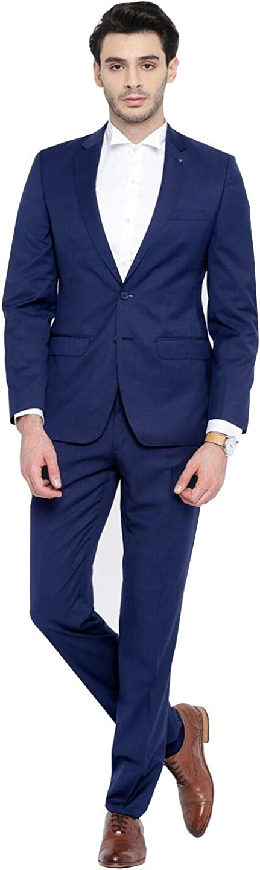 Frank Men's Suit Slim Fit Two Buttons 2 Pieces Suit Business Wedding Party Tuxedo
