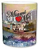 City of Miami Mug   Ceramic Coffee Cup   Downtown Skyline   Miami Loves Me Phrase   Shoreline Theme   Palm Tree Accents   Great Novelty Gift   11 Fl. Oz (Multicolored)