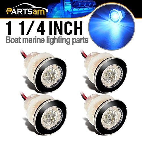 12V 6-LED CHROME ROUND COURTESY LIGHT Boat//Cabin//Caravan//RV//Stair//Step Accent
