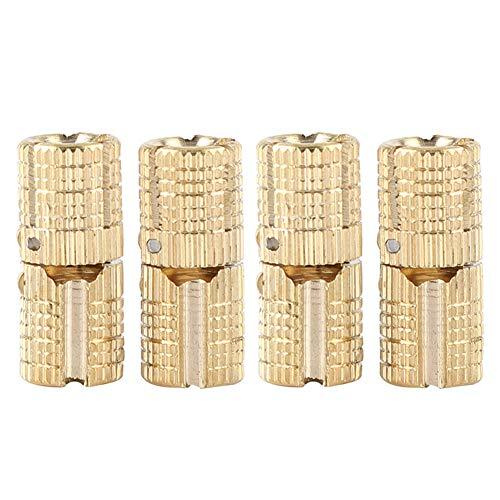 FTVOGUE 4 Teile/Paket Versteckte Möbelscharnier Messing Verdeckte Holzkiste 8mm 180 ° Öffnungswinkel