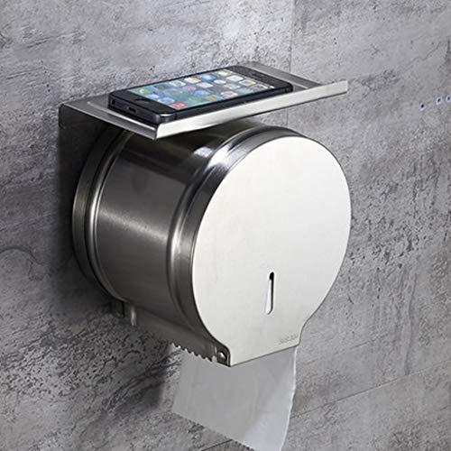 Gute Qualität Toilettenpapierhalter Edelstahl Toilettenpapierhalter Hotel Öffentlichen Toilettenpapierhalter Badezimmerzubehör (Farbe : B)