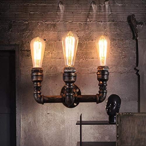 SHUHAO Creativo Lámpara de Pared Diseño de la Vendimia Retro luz lámpara de Pared Industrial Traffic Light Pipe Grifo Hierro Edison E27 Cubierta Decorativa Iluminación de Noche