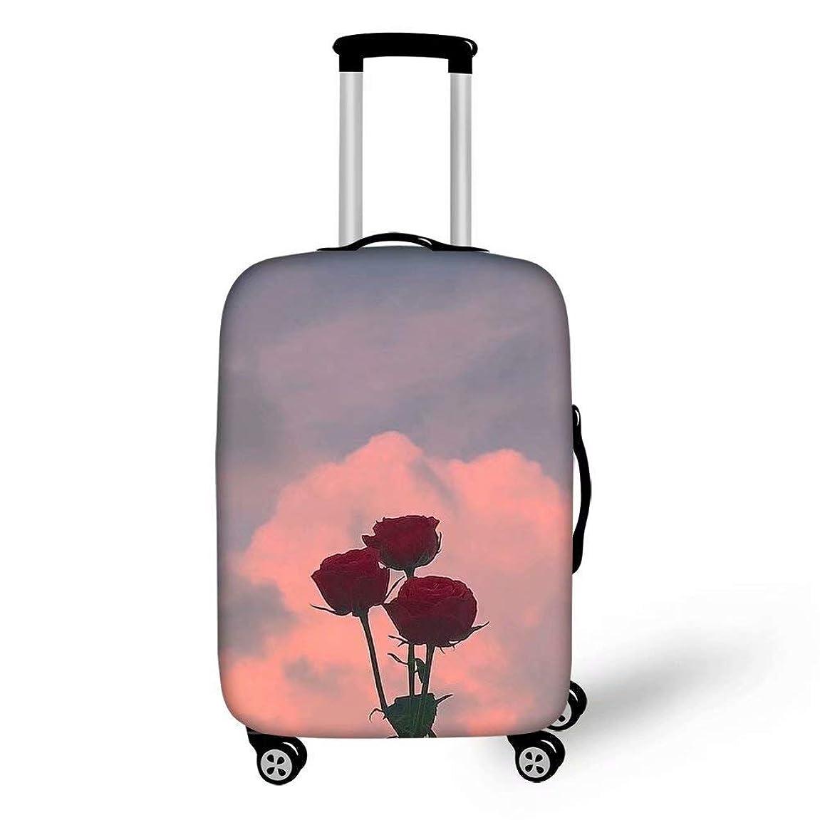 宣言する代わりに膨らませるLedback スーツケースカバー 伸縮素材 鮮やかな花 綺麗的 欧米風 S/M/Lサイズ トランクカバー 防塵 防水 ラゲッジカバー 洗える 旅行者 キャリーカバー おしゃれ 保護