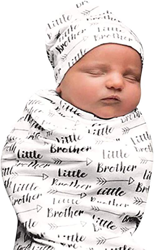 Moonper Newborn Sleeping Bag Baby Kids Blanket Sleeping Swaddle Muslin Wrap Hat