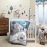 Lambs & Ivy (LAMCR) Forever Pooh 3-Piece Mini Crib Bedding Set, Blue (780020)