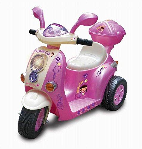 Mondial Toys Moto ELETTRICA 6V Scooter per Bambini con LUCI E Suoni Pink 7366