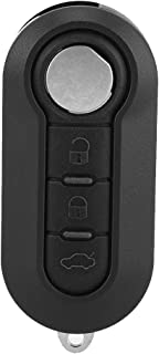 Terisass 3 Buttons Remote Key Fob Case Shell Replacement Car Intelligent Remote Control Key Fob Shell Case Protective Cover Fit for Fiat Grande Punto 500 Bravo Ducato Panda Black ABS Material