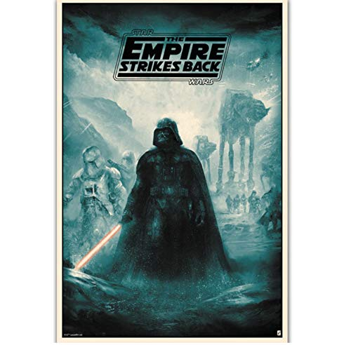 N/S Poster Poster Darth Vader Star Wars Classic Movie Fan Vintage Poster Home Decor Wall Picture Poster 40X60Cm Sin Marco