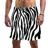 TIZORAX - Costume da bagno da uomo, modello zebrato, con fodera in rete multicolore M