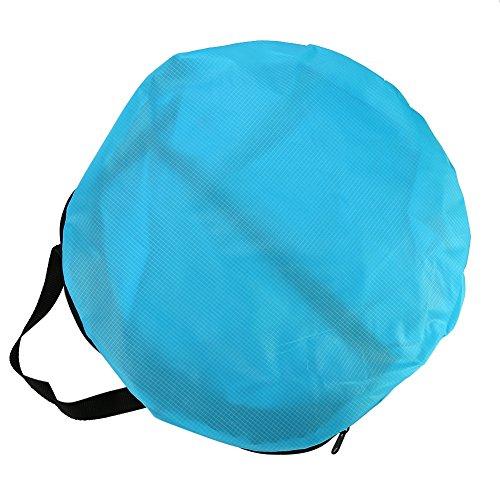 Yosoo Velo di piroga pieghevole trasparente con sacchetto di sistemazione accessori per kayak blu