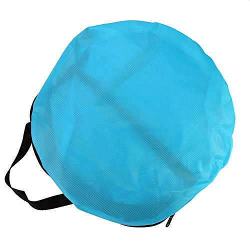 Yosoo - Vela Piragua Plegable con Bolsa de Almacenamiento para Accesorios de Kayak, Color Azul