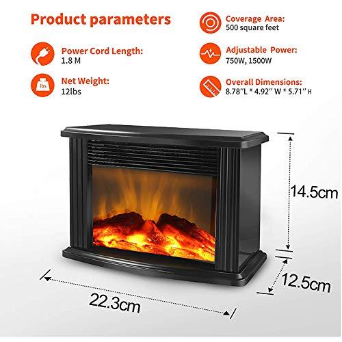 Yongqxxkj - Calefactor Chimenea eléctrica
