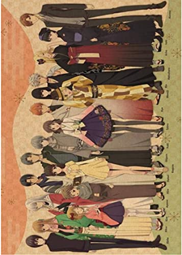 LIUDANDAN Canvas Poster Fruits Basket Poster Cartoon Painting Art Wall Sticker Used...