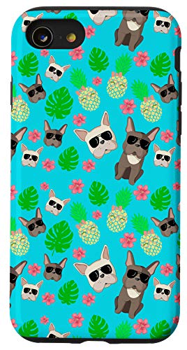 iPhone SE (2020) / 7 / 8 Frenchie And Pineapple Sunglasses Hawaii Theme Case