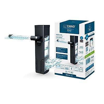 Ciano CF40 Aquarium Internal Filter - Flow of 200L/h. Suitable for aquariums between 10-40L.