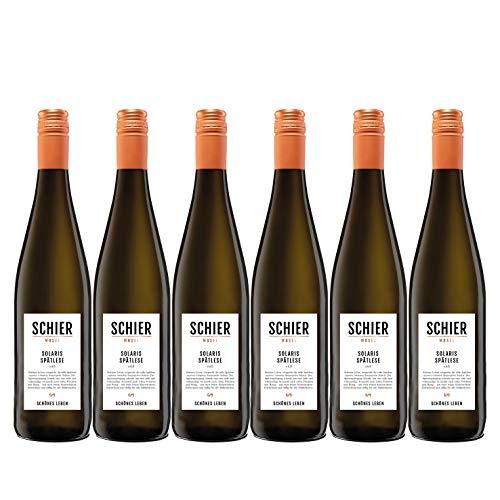 Solaris Spätlese - Weißwein mit Prädikat - süß/lieblich - vegan - 6 Flaschen (6x 0,75L)