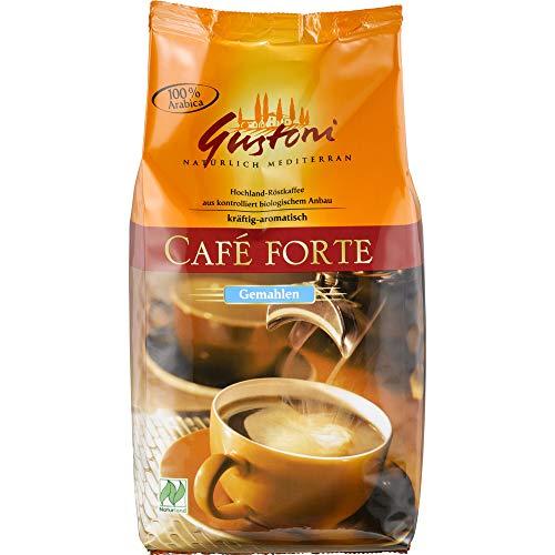 Gustoni Bio Café forte, kräftig- aro-, matisch gemahlen (2 x 500 gr)