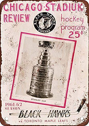 None Brand Chicago Black Hawks Blechschild Retro Blech Metall Schilder Poster Deko Vintage Türschilder Schild Warnung Hof Garten Cafe Toilette Kneipe Club Geschenk