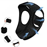 Anti Snoring Chin Strap for CPAP Users(New Version Upgrade) Breathable Adjustable Chin Straps-Effective Stop Snoring for Men and Women,Comfortable Sleeping cpap Chin Strap.Includes A Velcro (Black)