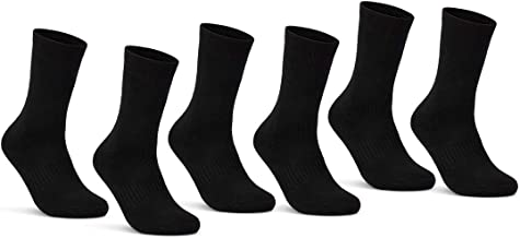 6   12   24 Paar THERMO Socken Damen & Herren Vollfrottee Wintersocken Schwarz Baumwolle