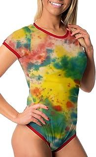 Littletude ABDL Onesie   Adult Baby Snap Crotch Romper Style   Tie Dye Print