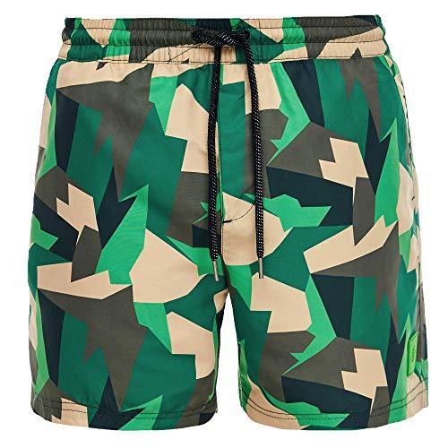 s.Oliver Herren Badehose Camouflage Fleckentarn | auch in Übergrößen (L | 6, Camouflage)