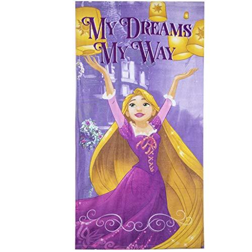 Disney Princess - Toalla de baño de playa para niñas, algodón mayoría, secado rápido, ultra suave, tamaño grande, color morado