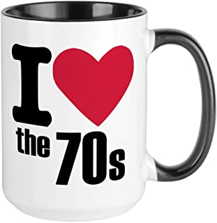 CafePress I Love The 70'S Large Mug Coffee Mug, Large 15 oz. White Coffee Cup