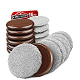 "Furniture Sliders X-PROTECTOR - Multi-Surface Sliders for Carpet - Furniture Movers Hardwood Floors - Best 8-Pack 3 1/2"" Moving Pads and 8 Hardwood Socks - Move Your Furniture Easy ON Any Surface!"