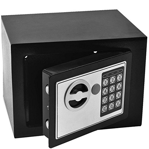 Safstar Electronic Digital Security Lock Box Wall Cabinet Safe for Jewelry Cash Valuable Home Office Hotel