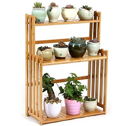 G-HJLXYZWJHOME Bamboeplant, staande plank, bloempotten, houder, display rek, Utility rek, rek voor badkamer