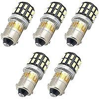 Bonlux 5-packs BA9 BA9s LED H21W 1445 1895 6253 64111 64113 T4W 12-24V 3 vatios luz 6000k coche LED luz bombilla para luz de placa separación señal cortesía lectura