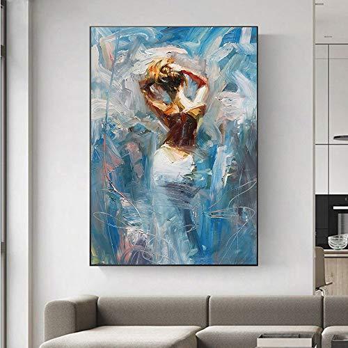 fdgdfgd Cartel de la decoración del hogar del Mural de la Sala de Estar Impresiones de la Lona del Arte Famoso de Las Mujeres Negras abstractas