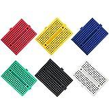 Elegoo 6PCS Mini Breadboard da 170 Punti Kit per Arduino Uno R3 Mega 2560