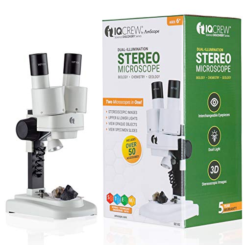 IQCREW Science Discovery Series Dual-Illumination Stereo Microscope