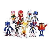 LINJIA Sonic toys 10-13cm 9pcs/lot Sonic Figure Boom Rare Dr Eggman PVC Modelo Juguete Sonic Shadow ...