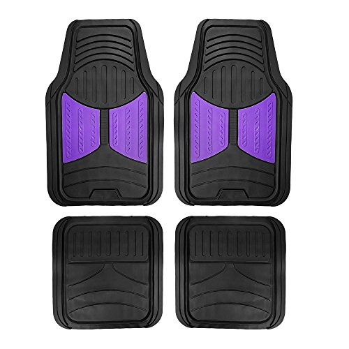 FH Group F11313PURPLE Purple Rubber Floor Full Set Trim to Fit Mats