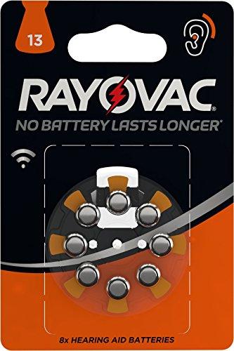 Varta Rayovac 4610745418 Batterie Acustiche 13, Zinco/Aria, Senza Mercurio