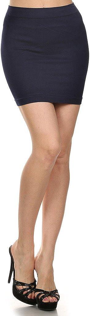 WHITE APPAREL Bandage Style Seamless Nylon Mini Skirt - ONE Size